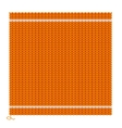 Knitted Seamless Orange Background vector image