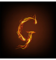 Alphabets flame vector image