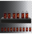 electric lamps set calendar clock vector image
