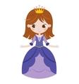 beautiful princess on white vector image