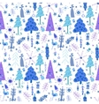 Christmas seamless pattern with fir trees vector image