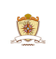 Compass Navigator Map Coat of Arms Crest Retro vector image