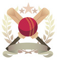 cricket emblem vector image