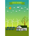 poster and banner of eco friendly house vector image