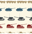 seamless background with military equipment vector image