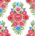 vintage seamless texture with stylized floral vector image