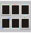 set of isolated realistic empty photo vector image