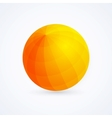 Sphere orange ball vector image vector image