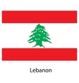 Flag of the country lebanon vector image vector image