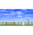 Gate and Fence vector image