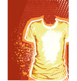 T-shirt grunge background vector image vector image
