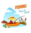 fisherman in the boat vector image