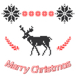 Merry Christmas greeting card Christmas background vector image