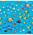 Coral reef sea life background vector image