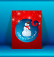 creative merry christmas greeting card vector image