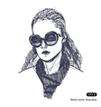 Female with sunglasses vector image