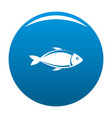 fish icon blue vector image