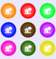 house icon sign Big set of colorful diverse vector image