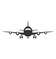 Icon of Plane Airplane symbol front view Aircraft vector image