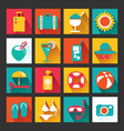 Summer Icons Set design Icons for web vector image