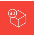 Three D box line icon vector image