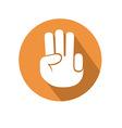 Three fingers gesture vector image