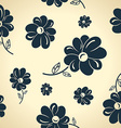 Vintage black flowers Seamless background vector image
