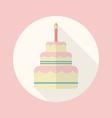 Wedding cake flat icon vector image