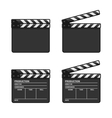 Blank Clapper Board Set on White Background vector image