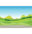 Countryside Road vector image