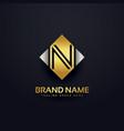 creative premium logo design template vector image