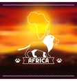 African ethnic background on evening savanna vector image