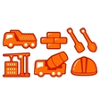 isolated construction yellow objects vector image