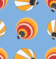 Seamless pattern of hot air balloons vector image vector image