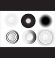 abstract circle white set design vector image