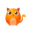 Cat Baby Animal In Girly Sweet Style vector image