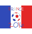 France 2016 Football poster Country symbol vector image