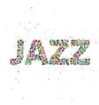 jazz word consisting of colored particles vector image