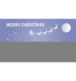 Merry Christmas and Happy New Year Santa Claus on vector image