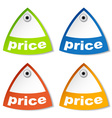 price tag vector image