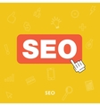 Search engine optimization concept of SEO vector image