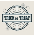 Stamp with Trick or Treat text vector image