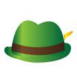traditional oktoberfest hat vector image