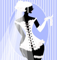 Bride in a corset vector image