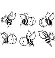 Set of bee vector image