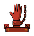 chain of slavery vector image