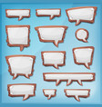 cartoon wood speech bubbles for ui game vector image