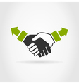 Hand shake2 vector image vector image