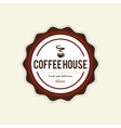 Delicious coffee label vector image