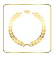 Gold laurel wreath crown golden vector image